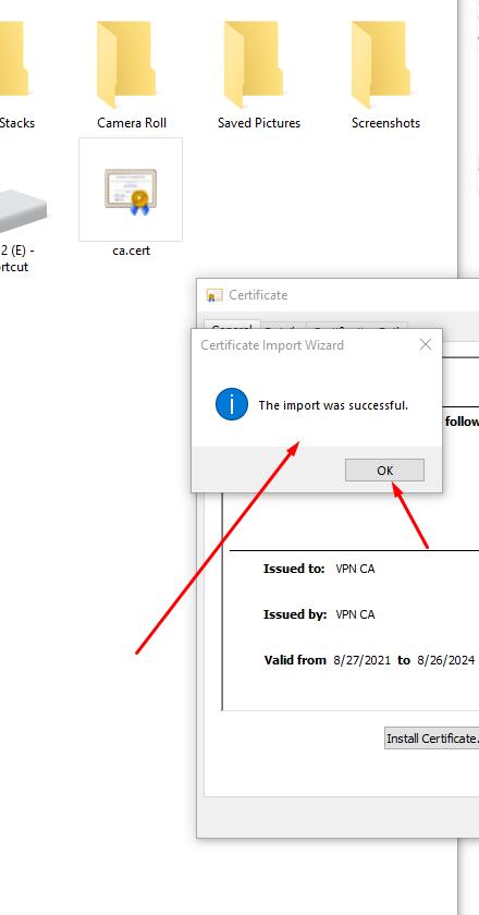 Ikev2/strongswan VPN On Windows10