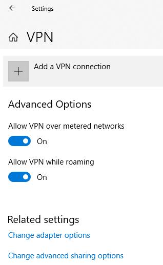 L2TP VPN On Windows10